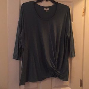 Greenish Twist Front Top by Old Navy - 3X.